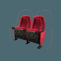 Omniplex rød, 2 stole