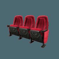 Omniplex rød, 3 stole