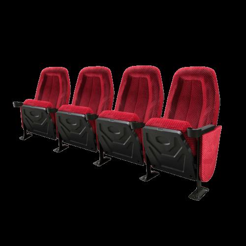 Omniplex rød, 4 stole