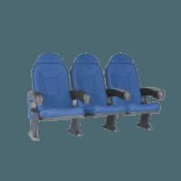Roma blå, 3 stole