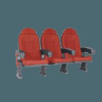 Roma rød, 3 stole