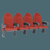Roma rød, 4 stole