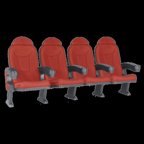 Roma röd, 4 stolar