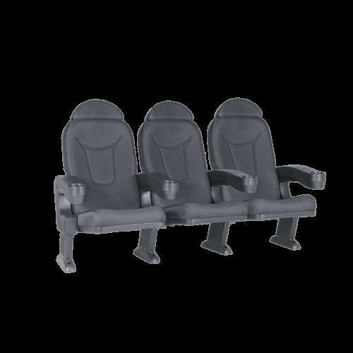 Roma svart, 3 stolar
