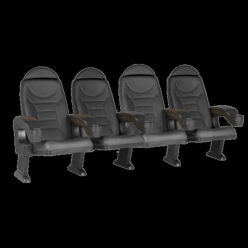Montreal svart, 4 stolar